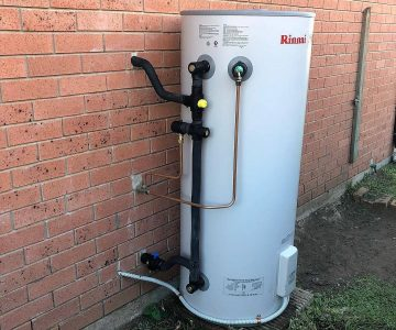 Rinnai Water Heater mounted to a wall