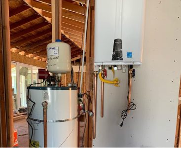 A Tankless and Tank Water Heater