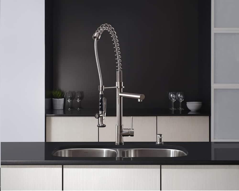 A Kraus kitchen faucet