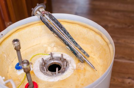 Replacing a damaged water heater heating element