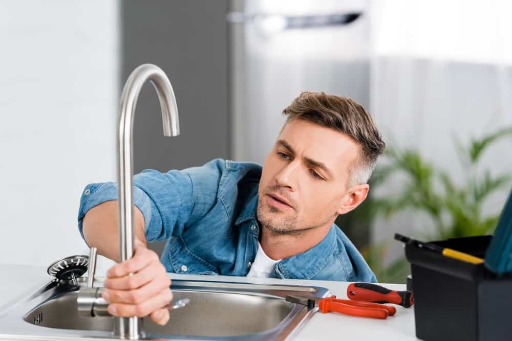 fixing leaky kitchen faucet