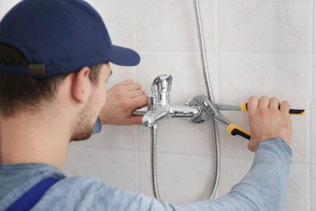 fixing shower faucet