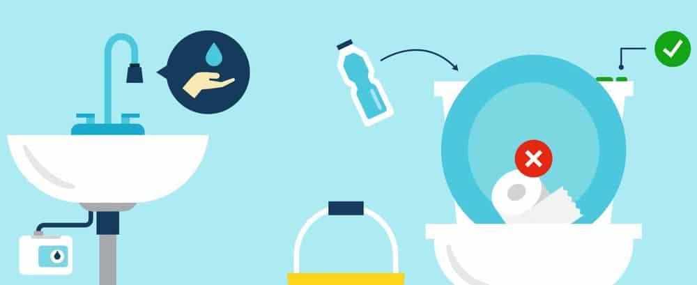 Avoid flushing things in the toilet
