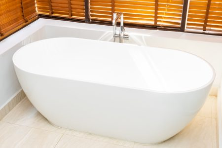 beautiful white bathtub