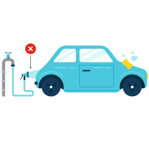 Saving Water Car Washing Icon