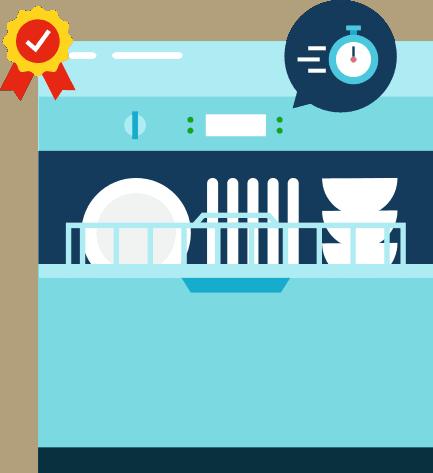 water-saving dishwasher