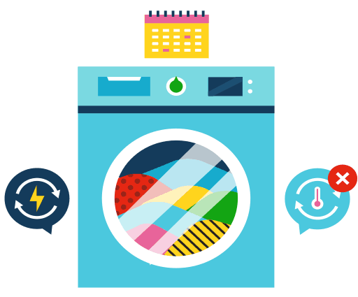Avoid overloading washing machine