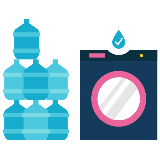 Saving Water Doing Laundry Icon