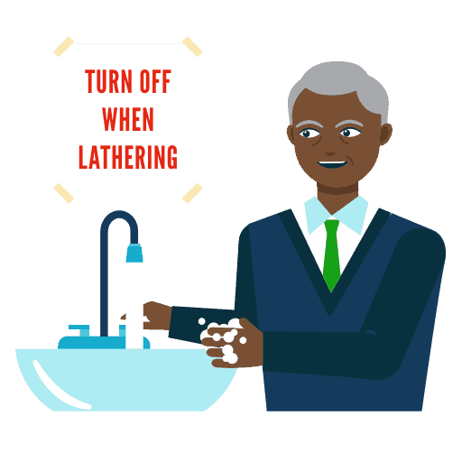 Saving Water in the Workplace Icon