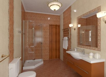 Luxurious shower with base