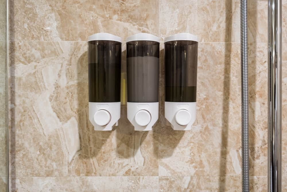 Shower soap dispensers