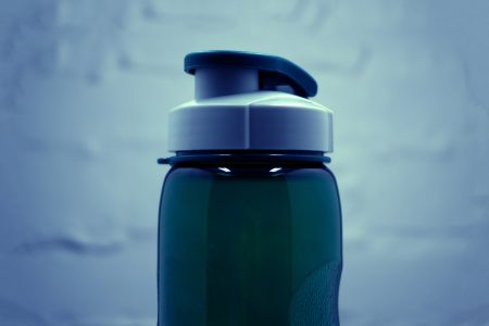 A filtered water bottle