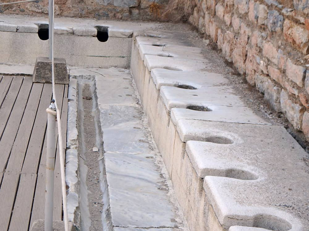 Ancient Rome communal toilet