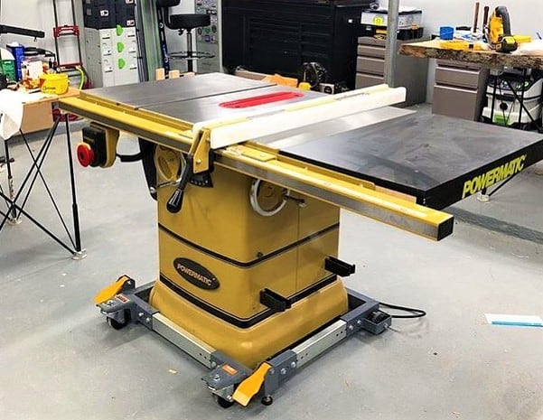 A Powermatic hybrid table saw