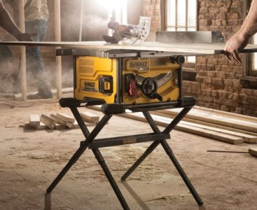 A Dewalt portable table saw