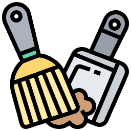 Vacuum or Dustpan and Brush Icon