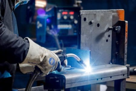 Welding steel with a MIG welder