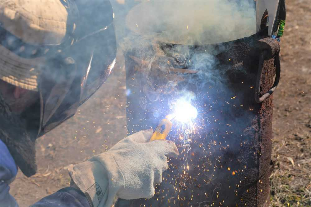 Man welding cast iron