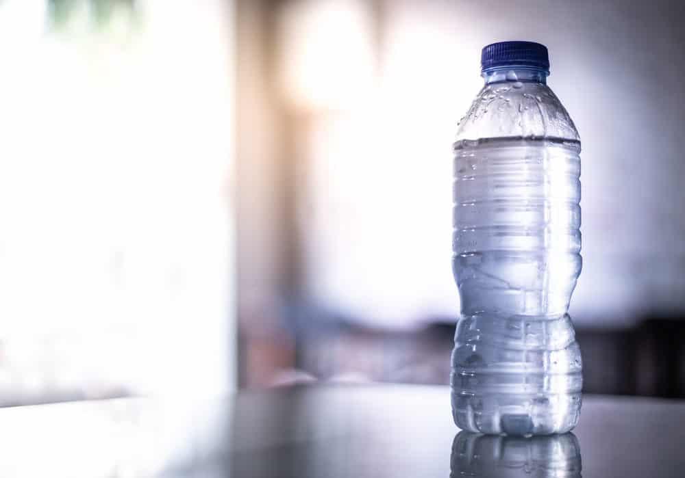 Water bottle on the shelf
