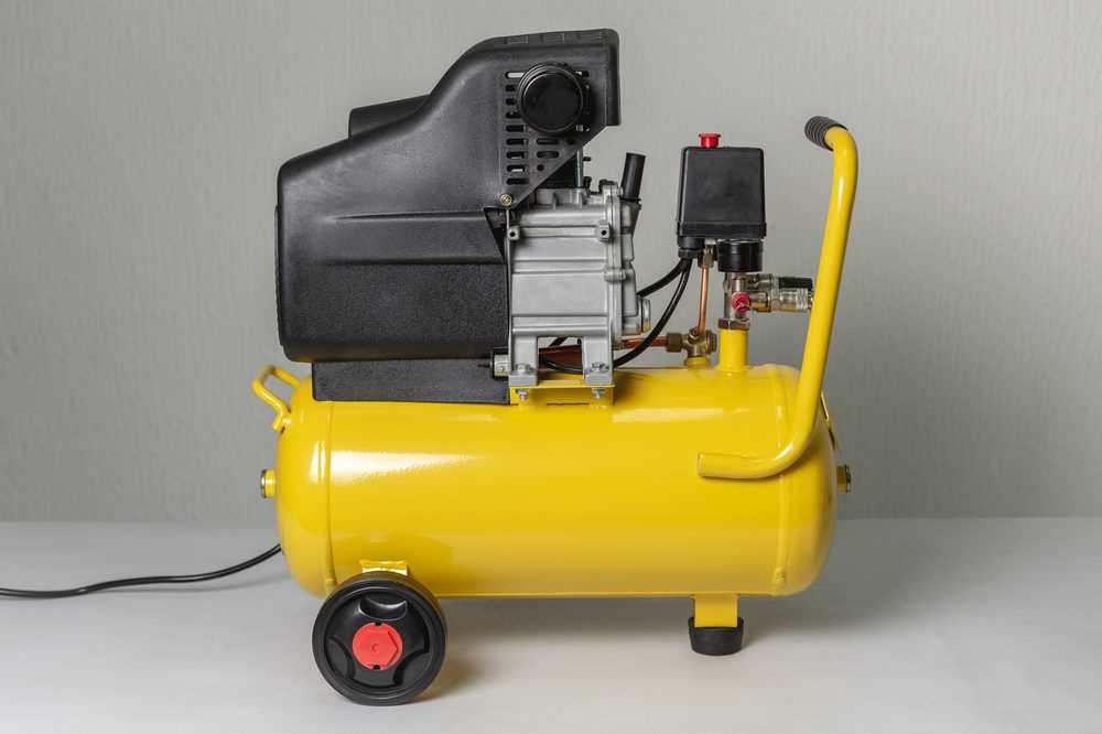 Yellow 20 gallon air compressor