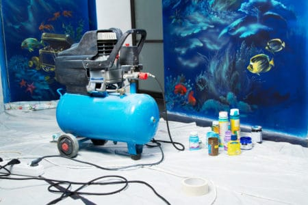 Air compressor for painting