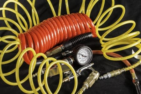 Air compressor hose and accessories