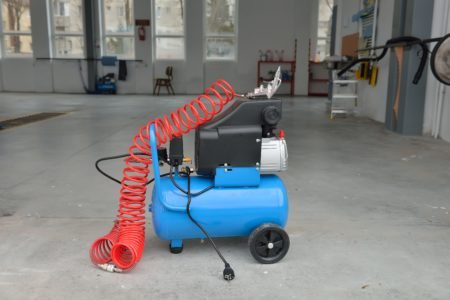 Small blue air compressor