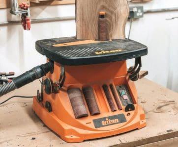 A spindle sander