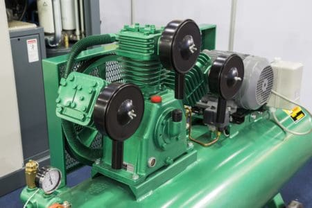 Air compressor with engine pump