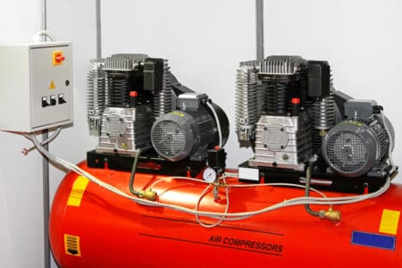 Double air compressor