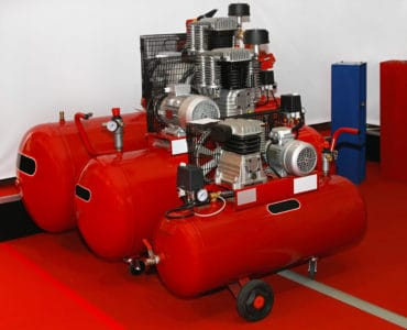Air compressors in different sizes