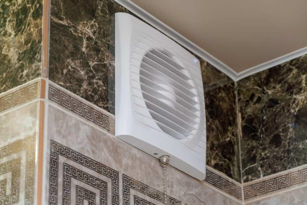 Ventilation system of modern bathroom