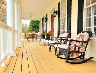 Front porch of a traditional home